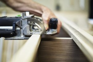 Handmade traditional kitchen joinery detail