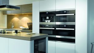 Miele appliances in oven housing