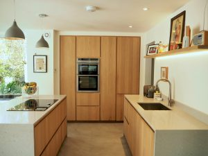 Modern handleless handmade kitchen