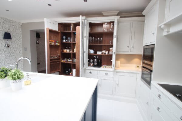 shaker kitchen with larder