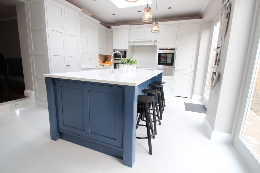 Panelled shaker with larder the brighton kitchen company for Brighton kitchen cabinets
