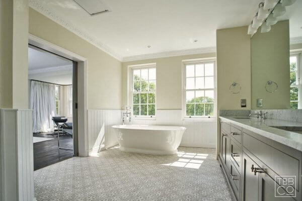 The Brighton Bathroom Company - Large Carrara marble ensuite with double shower